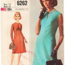 Vintage Pattern Simplicity 6262 Day Dress 60s Size 14 B34