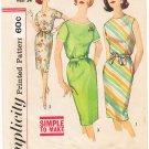 Vintage Pattern Simplicity 4394 Day Dress 60s Size 14 B34