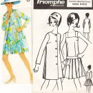 Rare Vintage Pattern Triomphe de Boussac Twiggy Dress and Jacket Nina Ricci 60s B34 to 39