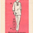Vintage Pattern Anne Adams Mail Order 4940 Dress or Top and Pants 80s Size 10.5 UNCUT
