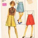 Vintage Pattern Simplicity 8596 Set of Skirts 60s Size 18 Waist 31