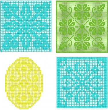 Blocks Filet Crochet Insertion Machine Embroidery
