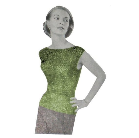 Vintage Crochet Pattern Cocktail Top 50's on PDF