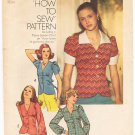 Vintage Pattern Simplicity 6518 Blouse, Top 70s Size 10 B32.5