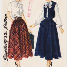 Vintage Pattern Simplicity 2944 Blouse, Skirt and Bolero 40s Size 12 B30 FF