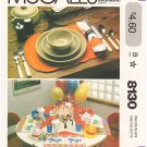 Pattern McCall's 8130 Placemats and Napkins for Occasions OneSize