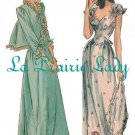 Repro Vintage Pattern Nightgown and Bed Jacket 40s No 2 on Printable PDF Multi Sizes