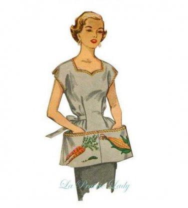Repro Vintage Gobbler Apron 50s on PDF No 36 Available Size M- L- XL