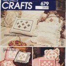 Vintage Pattern McCall's 8425 Cathedral Windows Quilted Pillows 80s UNCUT