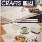 Vintage Pattern McCall's 8685 Candlewicking Placemats Napkins Tablerunner and Pillow 80s UNCUT