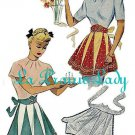 Vintage Half Apron 40's PDF Pattern No 29 Available in MED and LG