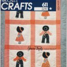 Vintage Pattern McCall's 8474 Patchwork Sunbonnet Sal and Overall Bill 80s