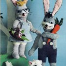 Vintage Mr. and Mrs. Bunny and little Lamb Knit Pattern