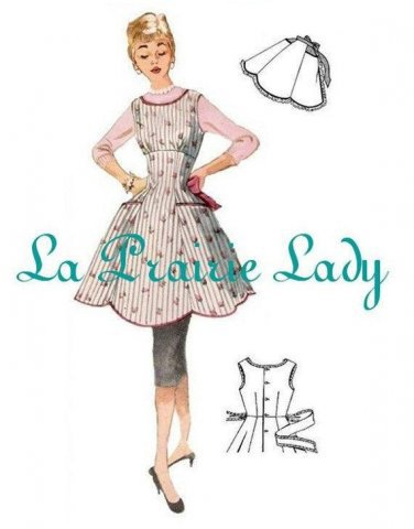 Repro Vintage Full and Half Apron Pattern 50s on PDF No 17 Available in M-L-XL