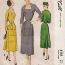 Vintage Pattern McCall 8181 Misses Dress with Horizontal Pleat in Skirt 50s Size 14 B32