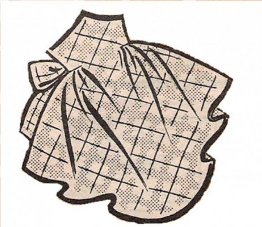 Vintage Apron 50s One Yard Fabric PDF Pattern No 8 Available in M-L-XL