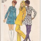 Vintage Pattern Simplicity 5085 Misses' Dress and Pants 70s Size 10 B32-1/2