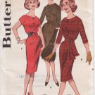 Vintage Pattern Butterick 9532 Misses' Slim Skirted Dress with Three Necklines 60s Size 16 B36