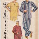 Vintage Pattern Simplicity 4108 Men Pajama 50s Size Med Chest 38-40
