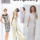 Pattern Simplicity 8669 Dress with Deep Back Size 20-24 UNCUT
