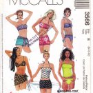 Pattern McCall's 3566 Two Pieces Bathing Suit and Cover-Up Skirt Size 8-12