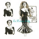 Repro of this Fabulous Vintage Pattern Dress with Flounces 1950s No 3 on Printable PDF