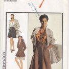 Vintage Pattern Style 1564 Jacket and Culottes 80s Size 16 B38 UNCUT