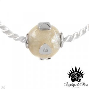 Genuine Topazes and Champagne Resin Necklace