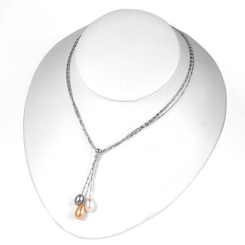 Tear Drop Pearl Necklace