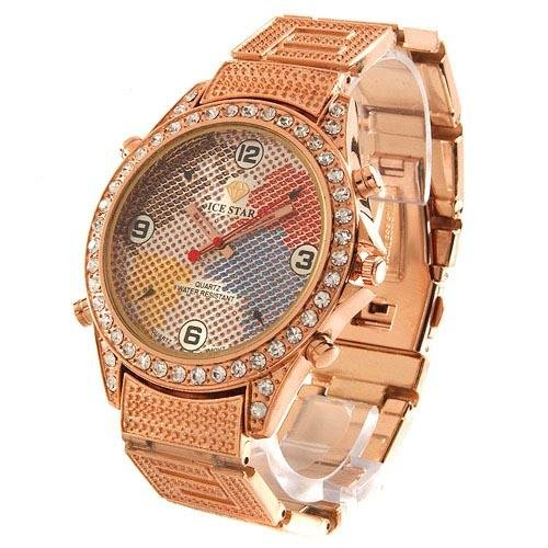 Ice Star Gents Watch Stainless Steel-Rose Coloring-Style1