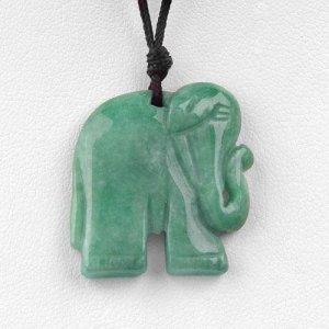 Elephant shaped Genuine Jade necklace
