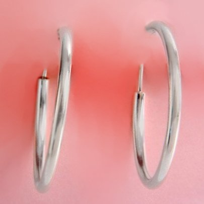 Sterling Silver Hoops (Style-1)
