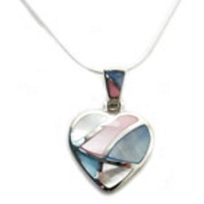 Sterling Silver and Mother-of-Pearl Pendant Necklace