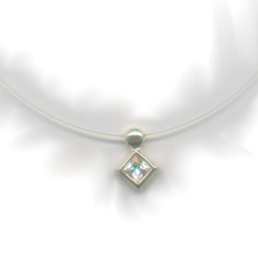 Sterling Silver Necklace with Cubic Zirconia (Style-2)