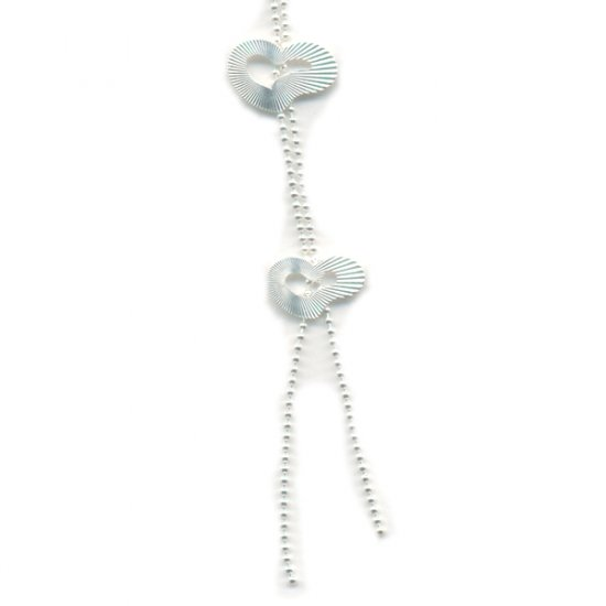 Italian made Sterling Silver Necklace with Heart Shapes