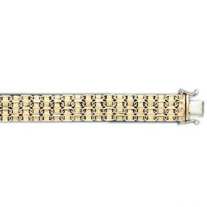 Woven Style Lady's Bracelet in Italian Gold (Style-1)