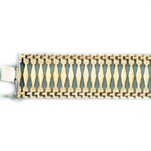 Ladys Gypsy Style Bracelet in Italian Gold (Style-1)