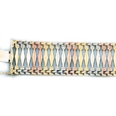 Ladys Gypsy Style Bracelet in Italian Gold (Style-2)