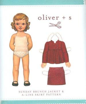 oliver + s Sunday Brunch Jacket and A-line Skirt Size 6m - 3TPattern