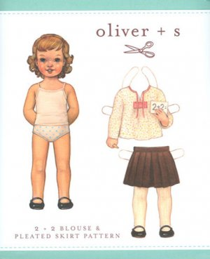 oliver + s 2 + 2 Blouse and Pleated Skirt Size 6m - 3TPattern