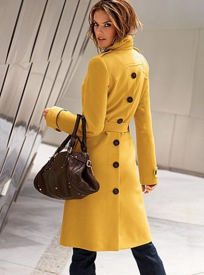 Belted wool trenchcoat in solids