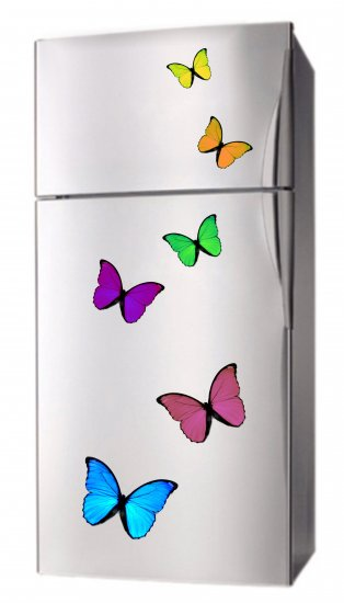 Set of 6 Decorative BUTTERFLY Appliance Fridge MAGNETS