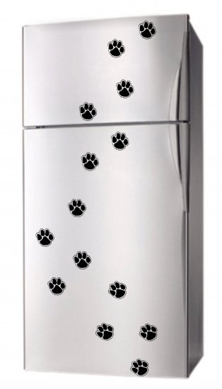 Set 16 PAW PRINT DoG CAt Appliance Fridge Decor MAGNETS