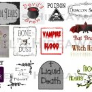 13 HALLOWEEN Witch Theme Party POTION Labels Stickers