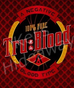 set of 8 TRUE BLOOD Theme Party Drink LaBeLs