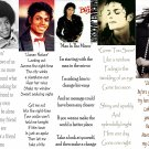 Set 5 MICHAEL JACKSON Thriller Bad Photo Song BooKMarks