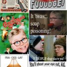 Set 7 A CHRISTMAS STORY x-mas Holiday Fridge Magnets