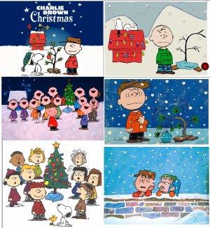 6 CHARLIE BROWN Christmas Snoopy Holiday Fridge Magnets