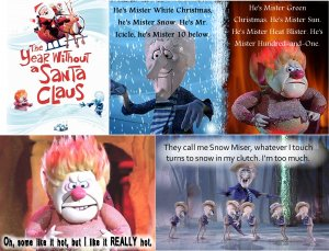 5 HEAT Snow MISER x-mas Holiday Fridge Magnets gift!