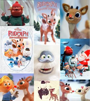 9 RUDOLPH Reindeer x-mas Holiday Fridge Magnets gift!